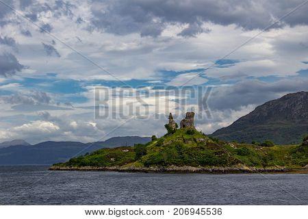 Castle Moil near Kyleakin on the Isle of Skye, Hebrides, Scotland.