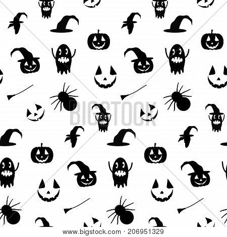 Seamless patten for Halloween holiday. All Saints' Eve illustration