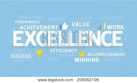 Excellence concept illustration. Idea of high quality, value and professional.