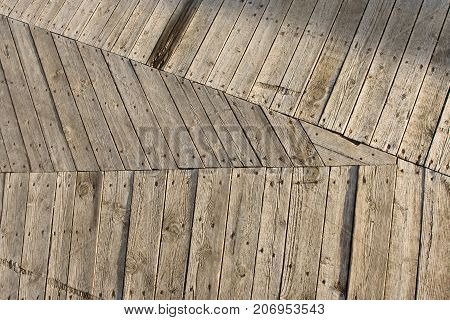 Wood Floor Background, triangle Wooden Planks wall