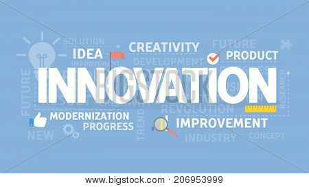 Innovation concept illustration. Idea of creativity, improvement and ideas.
