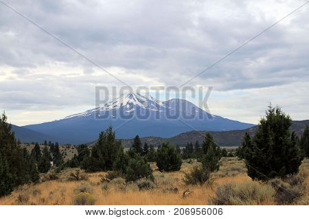 Landscape with Mountain Shasta in California, USA
