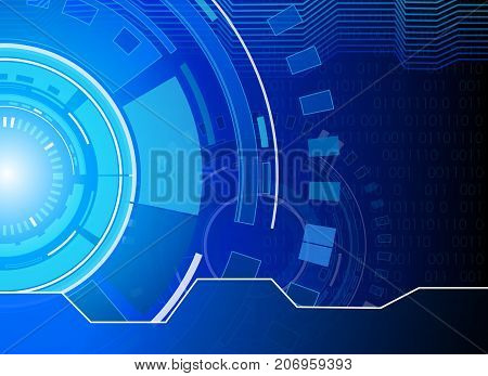circle and technology background abstract technology concept background vector illustration.