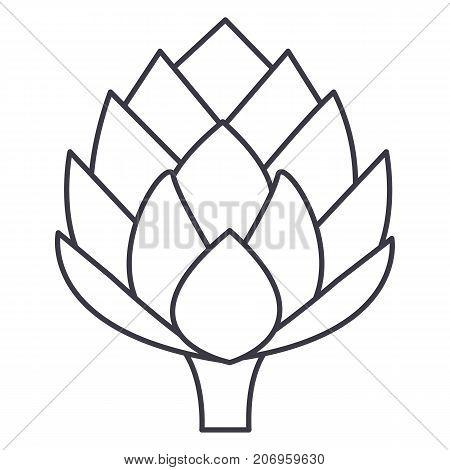 artichoke vector line icon, sign, illustration on white background, editable strokes