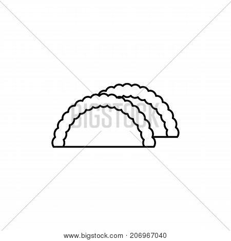 boon vector line icon, sign, illustration on white background, editable strokes