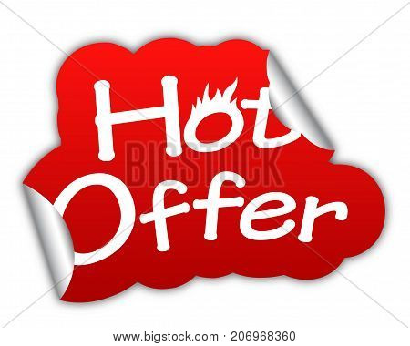 hot offer sticker hot offer red sticker hot offer red vector hot offer hot offer eps10 design hot offer sign hot offer