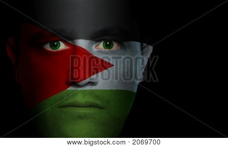 Palestinean Flag - Male Face