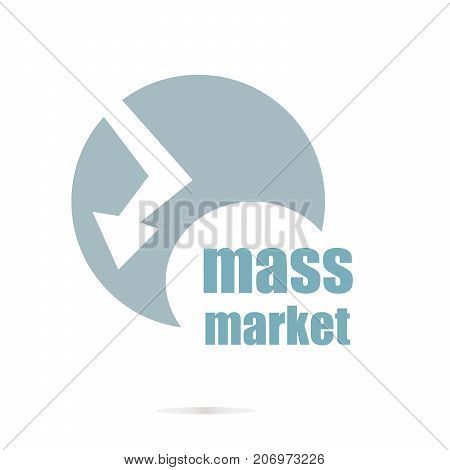 Mass Market Text. Business Concept . Logo Element And Abstract Web Icon