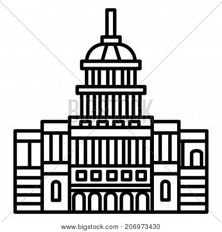 capitol, usa vector line icon, sign, illustration on white background, editable strokes