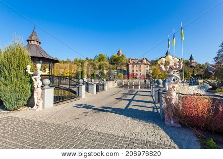 territory of the park in the village of Buki Ukraine October 11 2014