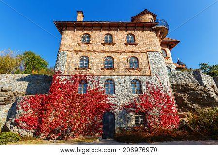 house in the landscape park in the village of Buki Ukraine October 11 2014