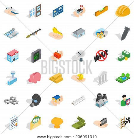 Fellowship icons set. Isometric style of 36 fellowship vector icons for web isolated on white background
