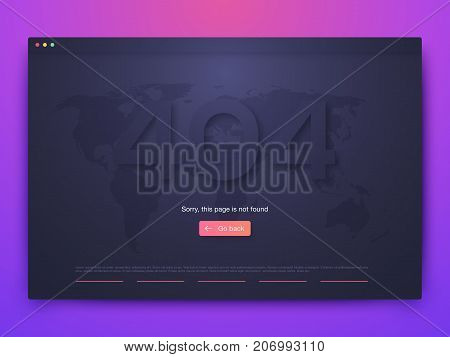 Vector Illustration of screens and web concept. Interface UX, UI GUI screen template for web site banners. 404 error