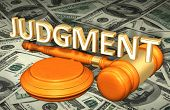 Judgment Law Concept 3D Illustration poster
