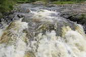 Plunging Waters in a Aux Sables River in Chutes Provincial Park in Ontario poster