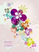 Flower Background eps10 poster
