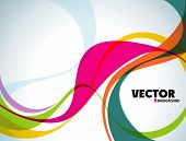 abstract vector wave eps10 poster