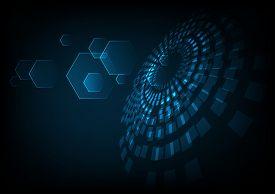 vector digital technology concept abstract background. futuristic technology background. Illustration vector