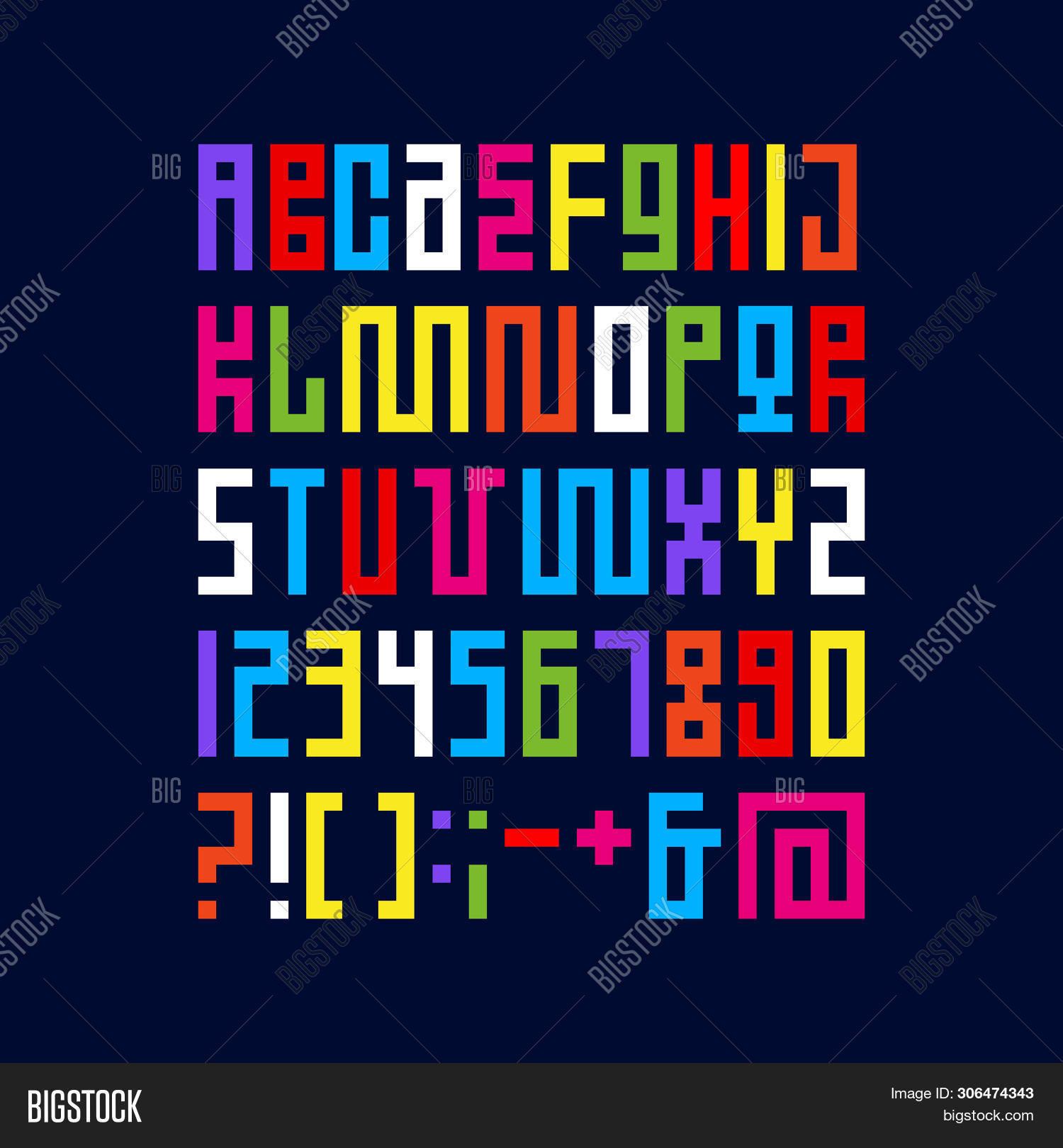 Pixel Art Alphabet Vector Photo Free Trial Bigstock