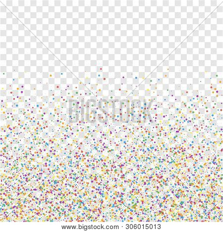 Festive Confetti. Celebration Stars. Colorful Confetti On Transparent Background. Classy Festive Ove