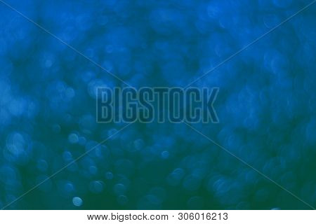 Nice Blue Lots Of Flying Festal Sparkles Bokeh Texture - Abstract Photo Background