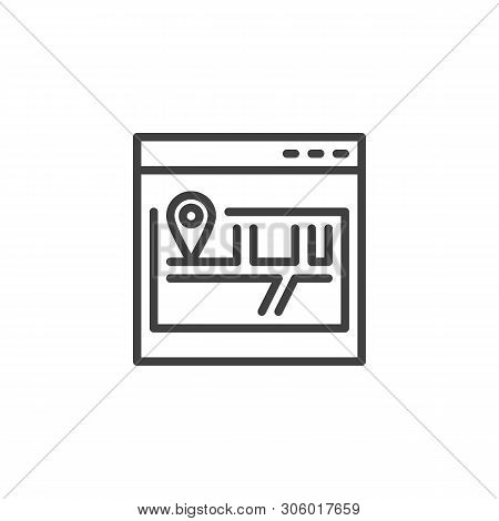 Site Map Line Icon. Scheme, Sitemap Linear Style Sign For Mobile Concept And Web Design. Website Map