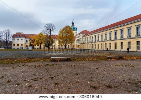 Berlin, Germany - November 08, 2018: View Of Charlottenburg Palace In Autumn