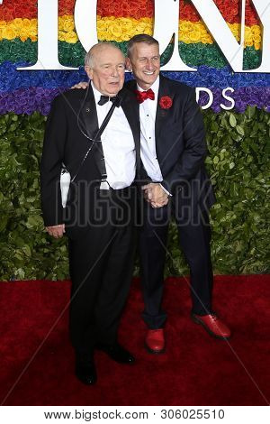NEW YORK-JUN 9: Terrence McNally (L) and Tom Kirdahy attend the 73rd Annual Tony Awards on June 9, 2019 at Radio City Music Hall in New York City.