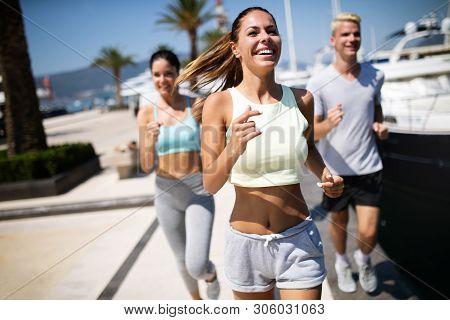 Running Friends Image Photo Free Trial Bigstock