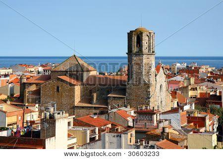 Old Town In Malgrat De Mar, Spain
