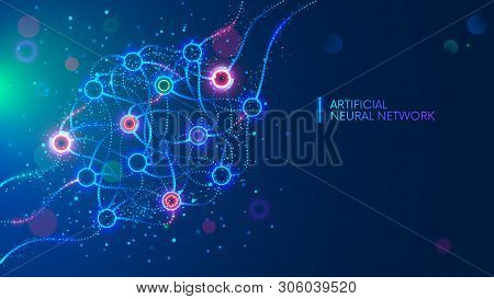 Artificial Neural Networks, Ann, Connectionist Systems. Abstract Simple Graphics Scheme Of Neural Ma