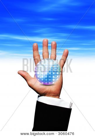Disko Ball In der Hand