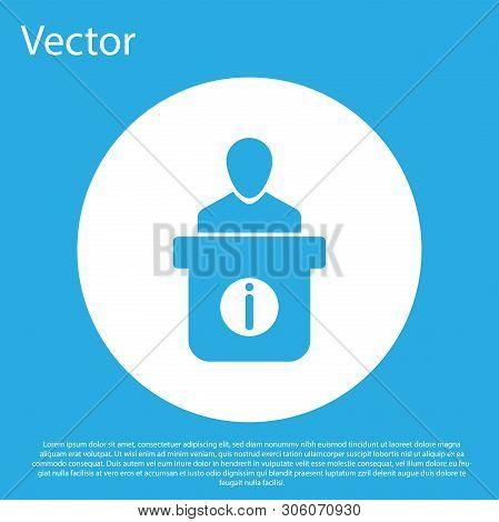 Blue Information Desk Vector Photo Free Trial Bigstock