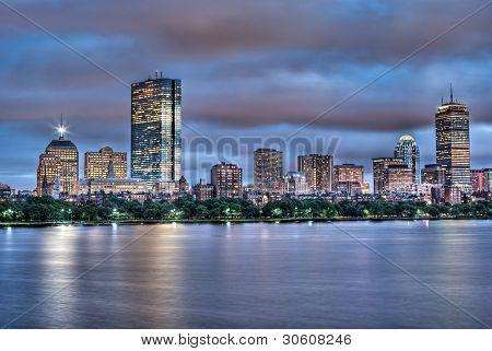 Boston Sunset Along the Charles