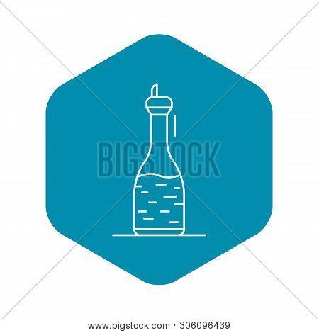 Fresh Vinegar Icon. Outline Fresh Vinegar Vector Icon For Web Design Isolated On White Background