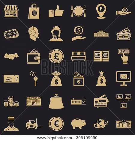 Incentive Icons Set. Simple Set Of 36 Incentive Vector Icons For Web For Any Design