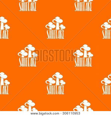 Shiitake Pattern Vector Orange For Any Web Design Best