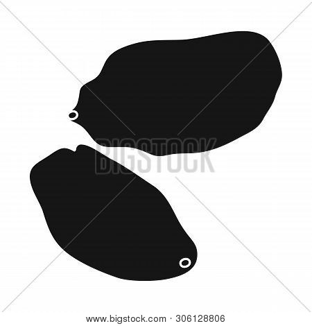 Vector Illustration Of Raisin And Dry  Sign. Collection Of Raisin And Heap  Stock Symbol For Web.