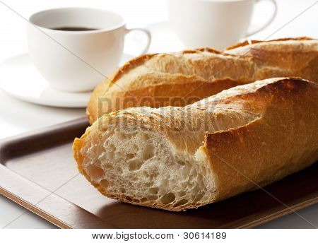 French Bread And Coffee