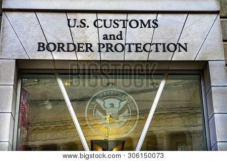 Washington Dc, United States - May 6, 2019 Us Customs And Border Protection Us Department Of Homelan