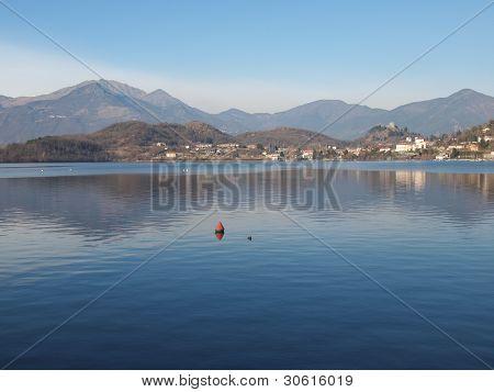 Lago Grande (The Great Lake) in Susa valley, Avigliana, Turin, Italy poster