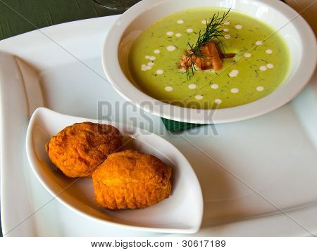 Delicate green soup