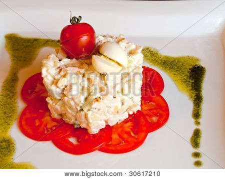 Salad of a one Frenchman