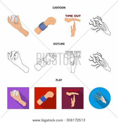Vector Design Of Animated And Thumb Icon. Set Of Animated And Gesture Stock Vector Illustration.