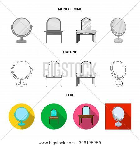 Vector Design Of Imagery And Decorative Icon. Set Of Imagery And Silver Stock Symbol For Web.