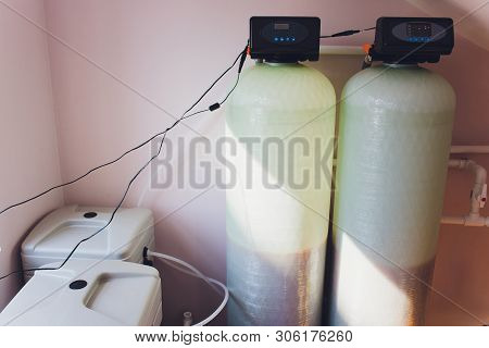 Water Filter System Or Osmosis, Water-purification. Home Equipment