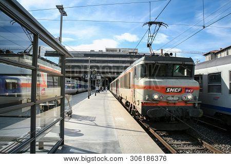 Marseille, France - October 29, 2006: Passenger Ter Regional Train In Marseille Saint Charles Train