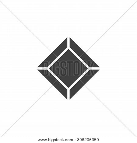 Precious Stone, Gem Vector Icon. Diamond Filled Flat Sign For Mobile Concept And Web Design. Gemston