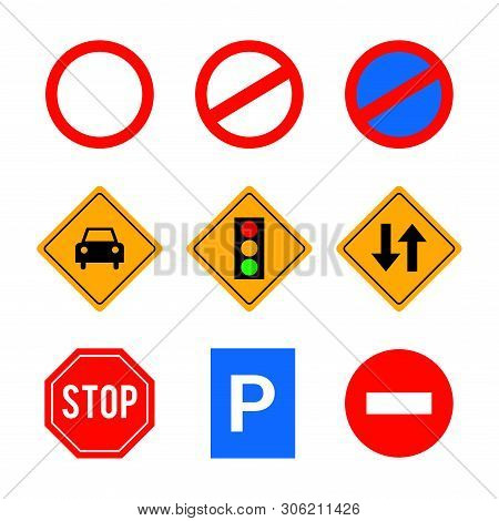 A Collection Of Vector Traffic Signs And Symbols. Great For Use To Convey Traffic Related Messages.