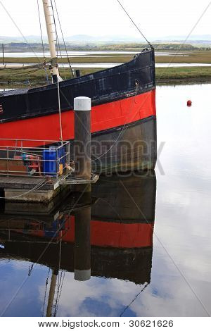 Reflection of boat